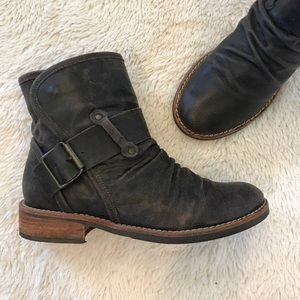 Matisse Victor Brown Leather Short Boots 5.5